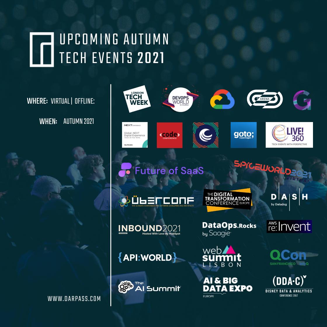 Tech Event Guide 2021